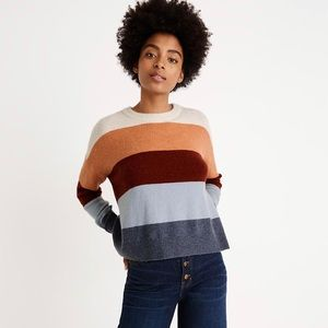 Madewell Crofton Striped Pullover Sweater